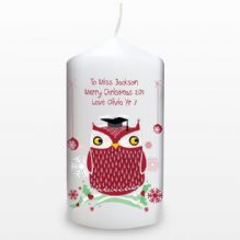 Christmas Owl Candle